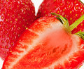 Fresh ripe strawberries Royalty Free Stock Image
