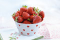 Fresh ripe strawberries a bowl full of Stock Photo