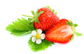 Fresh ripe strawberry on white background close up Stock Image