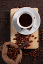 Fresh Roasted Coffee Beans Background