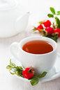 Fresh rose hip and drink Stock Photography