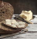 Fresh Rye Bread And Butter