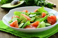 Fresh salad with avocado and tomato Royalty Free Stock Photo