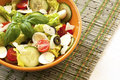 Fresh salad in  bowl. Healthy food. Royalty Free Stock Photo