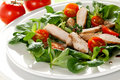 Fresh salad with chicken breast Royalty Free Stock Photo