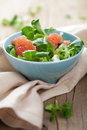 Fresh salad with grapefruit Royalty Free Stock Image