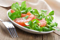 Fresh salad with grapefruit Stock Photos