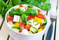 Fresh salad healthy food vegetable and cheese Stock Images