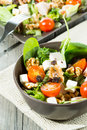 Fresh salad and healthy typical mediterranean Stock Images