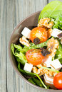 Fresh salad and healthy typical mediterranean Stock Photos