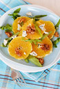 Fresh salad with oranges Stock Images
