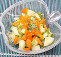 A fresh salad of paprika and cucumber Royalty Free Stock Image