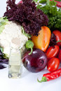 Fresh salad vegetables Royalty Free Stock Image