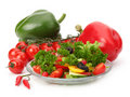 Fresh salad with vegetables Royalty Free Stock Photo