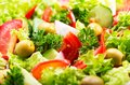 Fresh salad with vegetables and greens