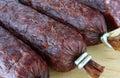 Fresh salami Royalty Free Stock Image