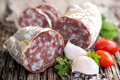 Fresh salami Royalty Free Stock Photography