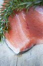 Fresh salmon green rosemary Royalty Free Stock Photography