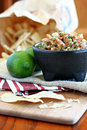 Fresh Salsa with Lime Royalty Free Stock Image