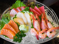 Fresh sashimi set mix japanese food Stock Images