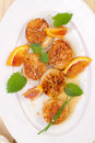 Fresh scallop on a plate Stock Photography