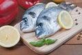 Fresh sea bream fish Royalty Free Stock Photo
