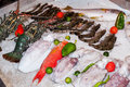 Fresh seafood in asian market Stock Photo