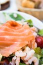 Fresh seafood salad Royalty Free Stock Image