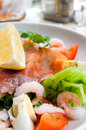 Fresh seafood salad Stock Photography