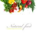Fresh seasonal vegetables isolated on white background Stock Photography