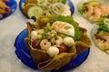 Fresh Shrimps Salad Stock Image