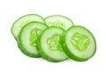 Fresh slice cucumber isolated on white background Royalty Free Stock Photo
