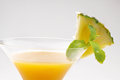 Fresh slice pineapple and juice on white background Royalty Free Stock Photo