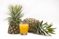 Fresh slice pineapple on white background Royalty Free Stock Photo
