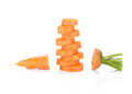Fresh sliced carrot Royalty Free Stock Photography