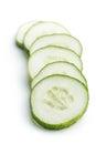 Fresh sliced cucumber. Royalty Free Stock Photo