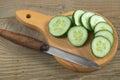 Fresh sliced cucumber Royalty Free Stock Photo