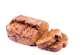 Fresh  sliced homemade whole grain brown bread with cereals Royalty Free Stock Photo