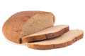 Fresh sliced rye bread loaf isolated on white background cutout Royalty Free Stock Photo