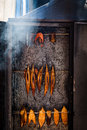 Fresh smoked fish. Royalty Free Stock Photo