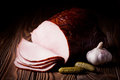 Fresh smoked ham Royalty Free Stock Photo