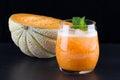 Fresh smoothie of melon Royalty Free Stock Photo