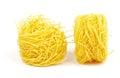 Fresh spaghetti noodles Stock Photo