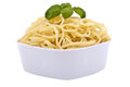 Fresh spaghetti with tomato sauce and parmesan Royalty Free Stock Image