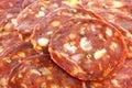 Fresh spicy Spanish chorizo (sausage) - Salami / Royalty Free Stock Photography