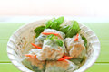 Fresh spring rolls vietnamese noodle roll Stock Photography