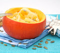 A fresh stew of a pumpkin Stock Photo