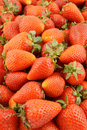 Fresh strawberries background close up Royalty Free Stock Photos
