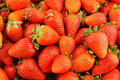 Fresh strawberries background close up Royalty Free Stock Photography
