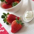 Fresh strawberries & cream Royalty Free Stock Photo